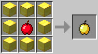 สูตรข้างโกลเด้นแอปเปิ้ลหัตถกรรม