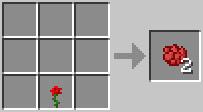 ข้างดอกกุหลาบสีแดงสูตรหัตถกรรม