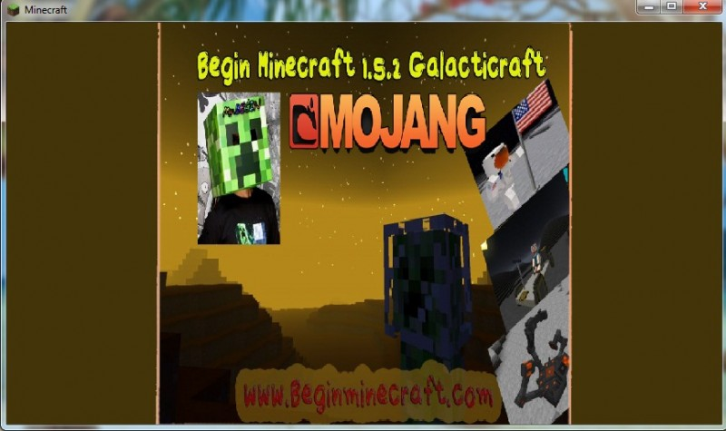 begin minecraft 1.5.2 galaxy