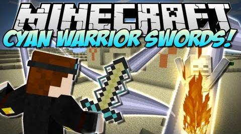มอด นักรบดาบสายไฟ หรือ Mod Cyan Warrior Swords 1.6.4/1.6.2/1.5.2